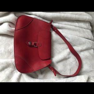 Like new Dooney & Burke red leather hobo